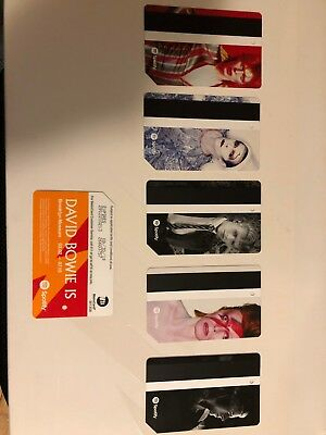 David Bowie MTA Metro Card NYC Limited Edition - Set of 5 - SHIPS NOW