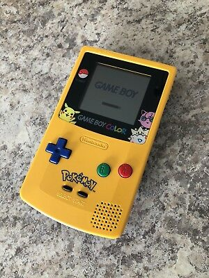 Gameboy Color Pokemon Pikachu Edition refurbished Nintendo System Blue - Yellow