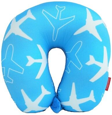 New Style Print U Shaped Micro Bead Travel Pillow Neck Support Cushion Airplane