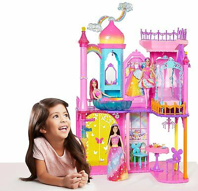 Barbie Dreamtopia Rainbow Cove Princess Castle Playset Fairy Mermaid 3 ft Sealed