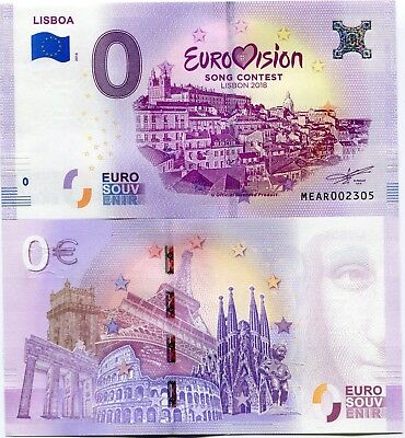 Eurovision Song Contest Lisbon 2018 Portugal 0 Euro Souvenir Note 1st Semi Final