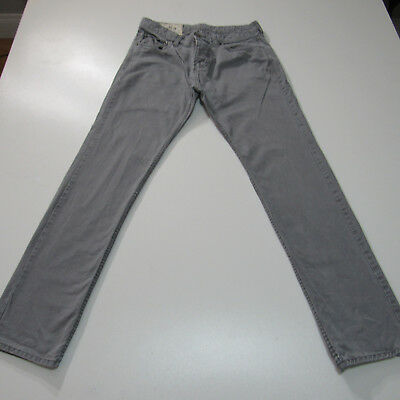 Mens Hollister Co- Gray Button Fly Slim Fit Jeans  Pants Size 31x32  9522