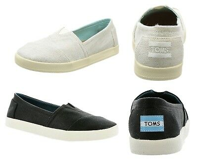 Toms Womens Avalon Slip On Flats Canvas Casual Shoes Comfort NEW Sneakers