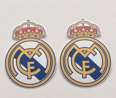 2x Real Madrid C-F- Car Bumper Laptop Phone Wall Vinyl Die Cut Sticker Decal