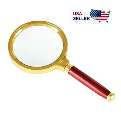 Magnifying Glass 10X Reading Magnifier HANDHELD 2 Glass Lens Jewelry Loupe Loop