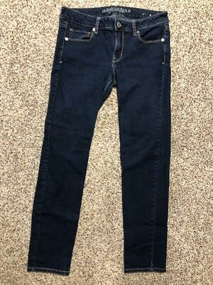 AE AMERICAN EAGLE OUTFITTERS SKINNY SUPER STRETCH WOMENS JEANS SIZE 10