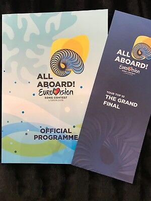 EUROVISION 2018 OFFICIAL PROGRAMME WITH VOTING SLIP - SOFT COVER RARE NETTA TOY