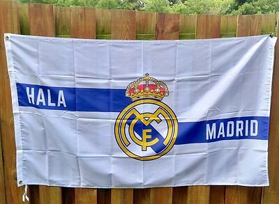 Real Madrid Flag Large Indoor Outdoor Banner   3 X 5' HALA MADRID - La Liga NEW