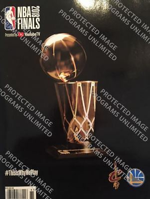 2018 NBA FINALS CHAMPION PROGRAM GOLDEN STATE WARRIORS CLEVELAND CAVALIERS
