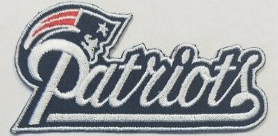 New England PatriotsIron On NFL Logo Embroidered PatchFree Shipping From USA