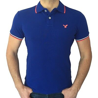 American Eagle Outfitters Mens Mesh Polo Shirt