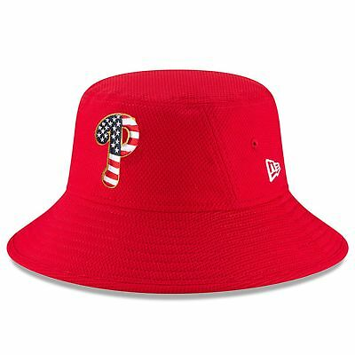 2018 Fourth of July Stars and Stripes Philadelphia Phillies Bucket Hat