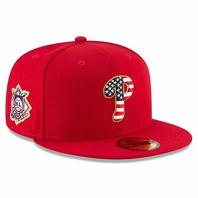 2018 Fourth of July Stars and Stripes Philadelphia Phillies Fitted Cap