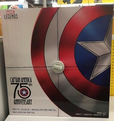 Licensed Marvel Legends Captain America 75th Anniversary Metal Shield Prop 11