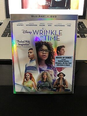 A Wrinkle in Time Blu-Ray - DVD 2018 w SLIP - Free First Class Shipping