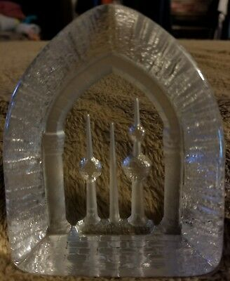 Kuwait Water Tower 28 Lead Crystal Paperweight by Ziad Kiswanson Presens Sculpt