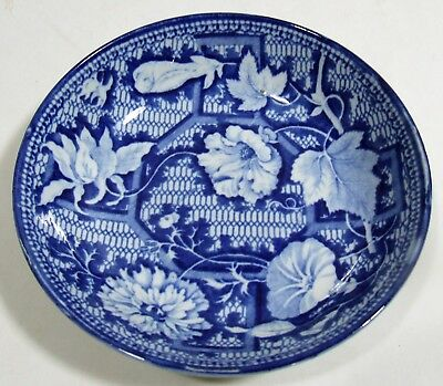 Early 19th Century Pearlware 5-75 Saucer  bowl - Rogers Flowers - Trellis