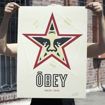 SIGNED Shepard Fairey SALAD DAYS Original Print Poster 550 Obey Giant