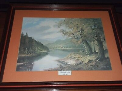 1972 Russell May Picture Mountain Lake Signed and Dated