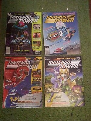 4 Nintendo Power Magazine 2001-2003 PokemonStar foxTony hawk Metroid fusion