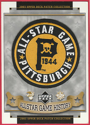 1944 ALL STAR GAME AT PITTSBURGH PIRATES OFFICIAL MLB BASEBALL UPPER DECK PATCH