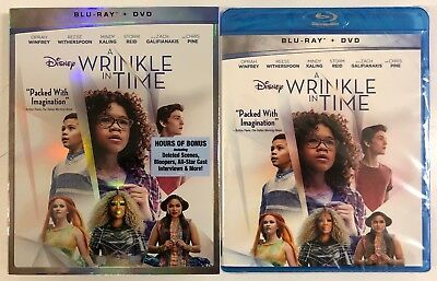 NEW DISNEY A WRINKLE IN TIME BLU RAY DVD 2 DISC SET - SLIPCOVER WLMART EXCLUSIVE