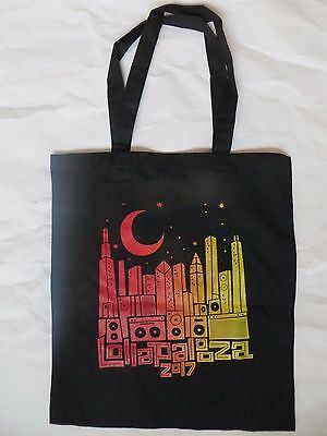LOLLAPALOOZA LOLLA CHICAGO GRANT PARK 2017 TOYOTA TOTE BAG YELLOW ORANGE RED