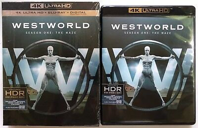 WESTWORLD SEASON ONE THE MAZE 4K ULTRA HD BLU RAY 6 DISC SET - SLIPBOX FREE SHIP