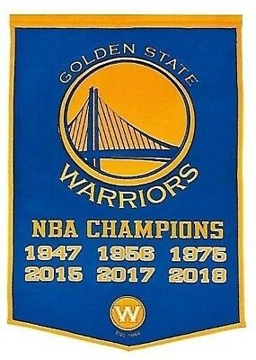 THE GOLDEN STATE WARRIORS BLUE 6X NBA CHAMPIONS FRIDGE MAGNET