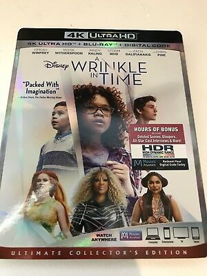 NEW  Disney A WRINKLE IN TIME 2018 4K ULTRA HD UHD DISC ONLY
