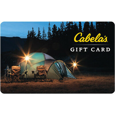 100 Cabelas Physical Gift Card For Only 85 - FREE 1st Class Mail Delivery