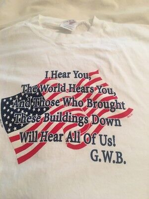 Starsstripes 911 Quote T-Shirt XL Large Stars Stripes 4th of July Cotton