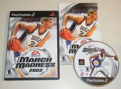NCAA March Madness 2002 COMPLETE GAME - Playstation 2 PS2 system  BASKETBALL