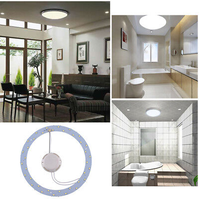 18W 36 LED Panel Circle Annular Practical Ceiling Light Lamp Pure White F217