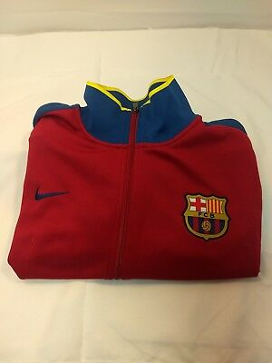 Nike FC barcelona jacket Red XXL Mens soccerworld cup themed zip-up