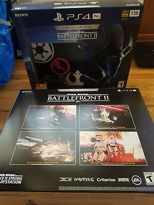 PlayStation 4 PS4 Pro 1TB Star Wars Battlefront 2 Limited Edition Bundle NEW