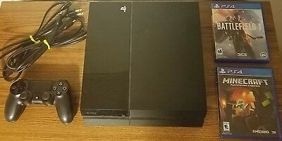 Playstation 4 Console with Minecraft and Battlefield 1 with Controller