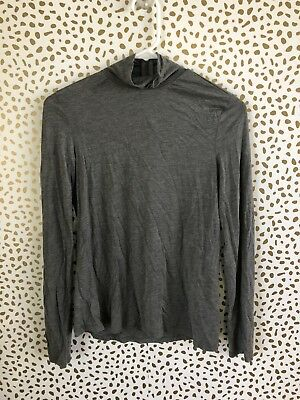 Zara Womens Gray Mock Neck Long Sleeve Top Size M