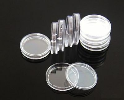 100 Direct Fit Airtight 24mm Coins Capsules Storage Holder for US Quarters