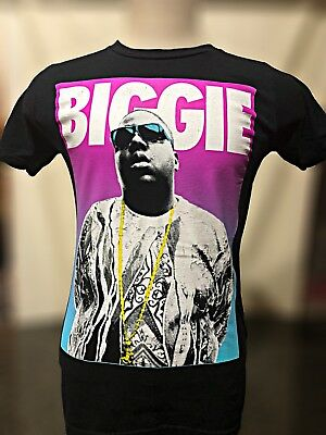 Biggie Smalls 90's Rap Icon Gold Chain Brooklyn Mint T Shirt Size Small