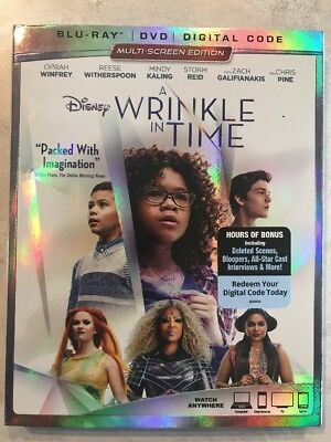Disney A Wrinkle In Time Blu-ray - DVD w Slip Cover Canadian Bilingual LOOK