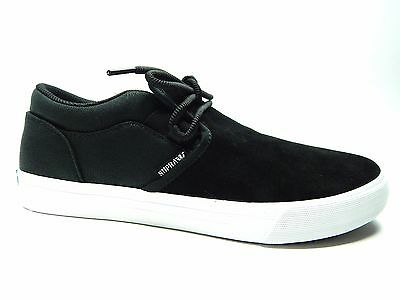 SUPRA CUBA BLACK WHITE MEN SHOES SIZE 8