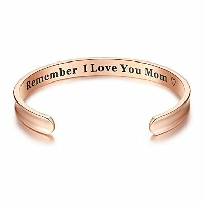For Mothers Day Gifts Remember I Love You Mom Cuff Bangle Bracelets Jewelry