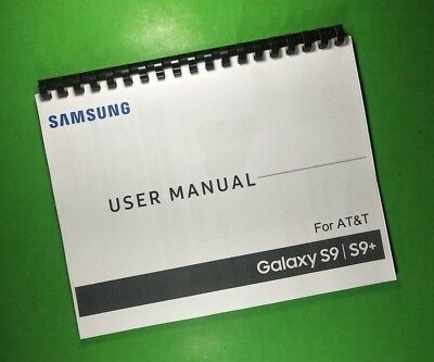 LASER 8-5X11 Samsung Galaxy S9 S9- AT-T Phone 217 Page Owners Manual Guide