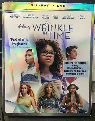 A Wrinkle in Time Blu-Ray - DVD  with SLIP COVER FREE SHIPPING