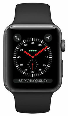 Apple Watch Series 3 38mm Space Gray Aluminium Case with Black Sport Band GPS