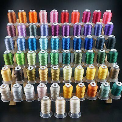 63 Colors Polyester - Sewing Embroidery Machine Thread Kit - 550YD Each Spool