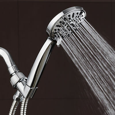 AquaDance High Pressure 4 Inch Chrome Face Hand Shower with 6-Settings