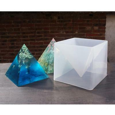 Large Pyramid Shape Silicone Mold Resin Casting Jewelry Making Mould 15cm