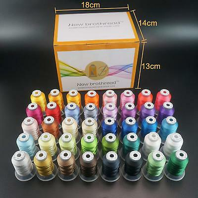 Polyester Embroidery Machine Thread Set  - 40 Spools 500 meters each